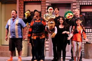 Avenue Q Christmas Eve.Stagescenela