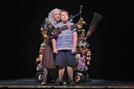 Pippa Pearthree (Grandma) and Patrick D. Kennedy (Pugsley) in THE ADDAMS FAMILY (c) Jeremy Daniel