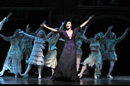 Sara Gettelfinger (Morticia) and Company in THE ADDAMS FAMILY (c) Jeremy Daniel