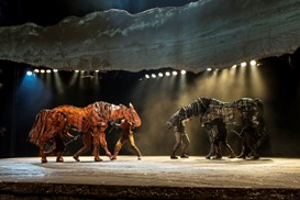 The cast of the national tour of the National Theatre of Great Britain production of ?War Horse,? which has its West Coast premiere at the Center Theatre Group/Ahmanson Theatre, June 14 through July 29, 2012.  (Opens June 29.)  ?War Horse,? the winner of five Tony Awards, is based on a novel by Michael Morpurgo, adapted by Nick Stafford and presented in association with Handspring Puppet Company. For tickets and information, call (213) 972-4400 or go to www.CenterTheatreGroup.org.                                                                                                                                                                      Contact: CTG Media and Communications (213) 972-7376/CTGMedia@CenterTheatreGroup.org                                     Photo by Brinkhoff/Mögenburg