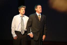 James Leo Ryan and Kevin in a scene from The Full Monty