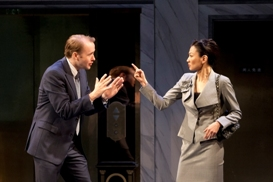 Alex Moggridge and Michelle Krusiec in South Coast Repertory's 2013 production of CHINGLISH by David Henry Hwang.