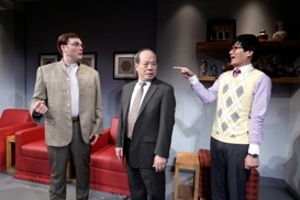 Brian Nishii, Raymond Ma and Austin Ku in South Coast Repertory's 2013 production of CHINGLISH by David Henry Hwang.
