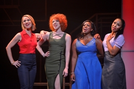 2_Carly Thomas Smith, Adrianna Rose Lyons, Monique L. Midgette and Kyra Little Da Costa in Smokey Joe's Cafe. Photo by Kevin Berne