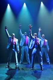 7_LaVance Colley, Michael Shepperd, Stu James and Thomas Hobson in Smokey Joe's Cafe. Photo by Kevin Berne