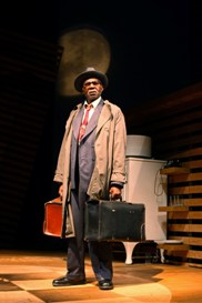 Charlie Robinson is Willy Loman in South Coast Repertory's 2013 production of DEATH OF A SALESMAN by Arthur Miller