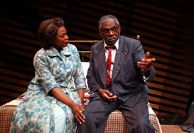 Kim Staunton and Charlie Robinson in South Coast Repertory's 2013 production of DEATH OF A SALESMAN by Arthur Miller