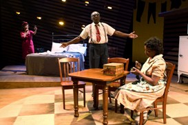 Tracey A. Leigh, Charlie Robinson and Kim Staunton in South Coast Repertory's 2013 production of DEATH OF A SALESMAN by Arthur Miller