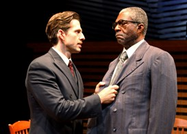 Tyler Pierce and Charlie Robinson in South Coast Repertory's 2013 production of DEATH OF A SALESMAN by Arthur Miller
