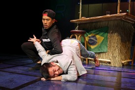 Lawrence Kao and Nelson Lee in South Coast Repertory's 2013 world premiere of FAST COMPANY by Carla Ching.
