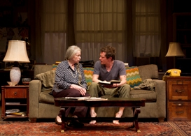 Jenny O'Hara and Matt Caplan in South Coast Repertory's 2013 production of 4000 MILES by Amy Herzog.