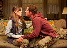 Rebecca Mozo and Matt Caplan in South Coast Repertory's 2013 production of 4000 MILES by Amy Herzog.