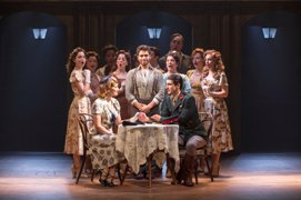 Josh Young as 'Che' and the Touring Cast of EVITA. Photo by Richard Termine