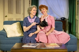Joanna Daniels as Ethel and Sirena Irwin as Lucy in I LOVE LUCY® LIVE ON STAGE. Photo by Jeremy Daniel