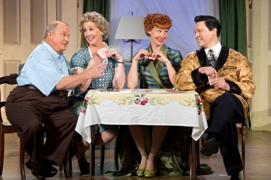 Kevin Remington (Fred), Joanna Daniels (Ethel), Sirena Irwin (Lucy), and Bill Mendieta (Ricky) in I LOVE LUCY® LIVE ON STAGE