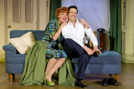 Sirena Irwin as Lucy and Bill Mendieta as Ricky in I LOVE LUCY® LIVE ON STAGE. Photo by Jeremy Daniel