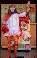 Kjerstine Rose Anderson as Little Red Riding Hood - Photo by Kevin Parry