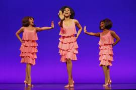 Krisha-Marcano-(Florence-Ballard),-Allison-Semmes-(Diana-Ross)-and-Trisha-Jeffrey-(Mary-Wilson)-MOTOWN-THE-MUSICAL-First-National-Tour-photo-by-Joan-Marcus