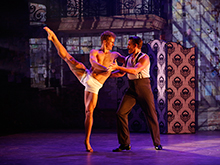"(from left) Ryan Steele and Jonathan Sharp in Douglas Carter Beane's vignette ""Artists and Models, 1929,"" part of the world premiere musical In Your Arms. In Your Arms, with music by Stephen Flaherty and direction and choreography by Christopher Gattelli, runs Sept. 16 - Oct. 25, 2015 at The Old Globe. Photo by Carol Rosegg."