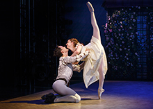 "Spencer Clark and Lyrica Woodruff in ""Prologue,"" part of the world premiere musical In Your Arms. In Your Arms, with music by Stephen Flaherty and direction and choreography by Christopher Gattelli, runs Sept. 16 - Oct. 25, 2015 at The Old Globe. Photo by Carol Rosegg."